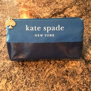 Kate spade ♠️ New York make up bag two tone blue
